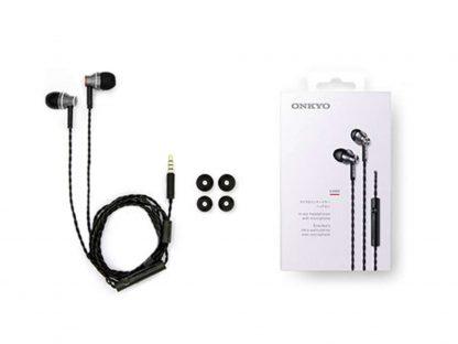 Onkyo E300M zwart in-ear met microfoon